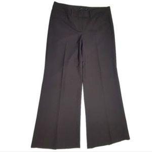 Theory 8 Small Brown Wide Leg Dress Pants Wool k1
